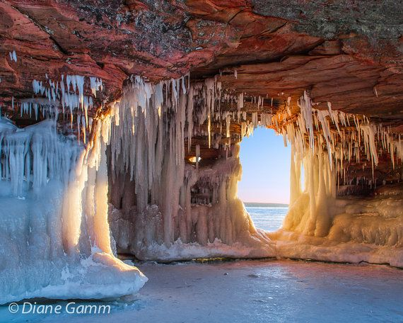 Lake Superior Ice Caves, Fine Art Photo Photography