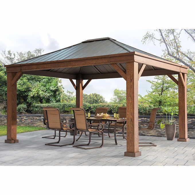 Sunjoy Adland 12 Ft X 14 Ft Hardtop Gazebo Backyard Gazebo Backyard Pavilion Outdoor Pergola