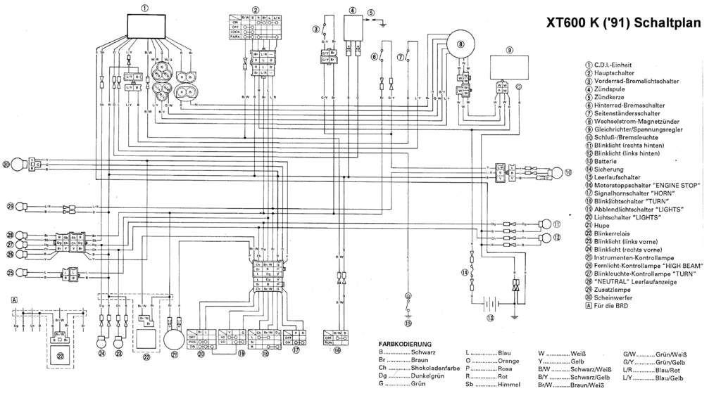 Yamaha Xt 600 Wiring Diagram - wiring diagrams image free - gmaili.net