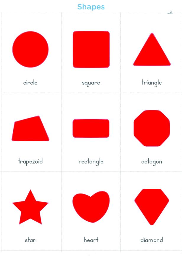 أسماء الاشكال الهندسية بالانجليزية والعربية مع الصور للاطفال Shapes Names Playing Cards Cards