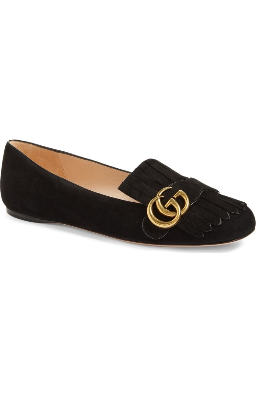 e8f67c537 Gucci GG Marmont Fringe Flat (Women)   Nordstrom   Things I want in ...