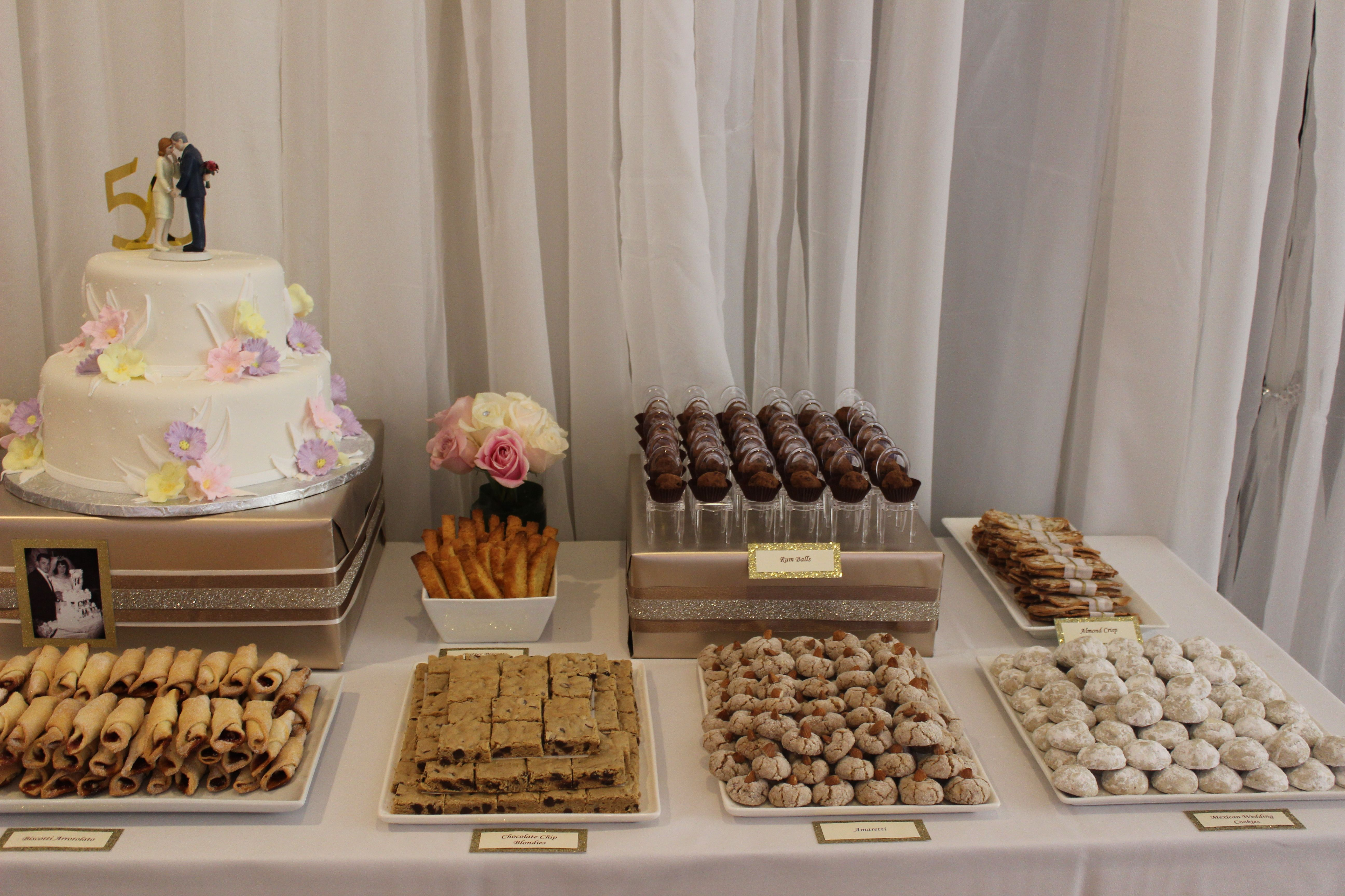 Parents 50th anniversary dessert table party ideas pinterest
