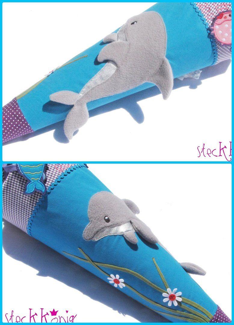"""Photo of Schultüte / Zuckertüte """"Delfin"""", türkis/lila*"""