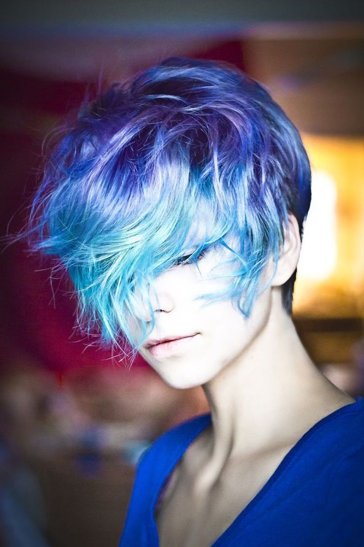 Blaue Haare wie der Ozean u Der neue Haarfarben Trend  Yeşil saç