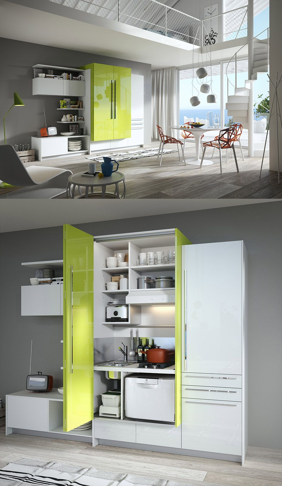 La cucina nell 39 armadio idee ikea home decor small - Cucina living ikea ...