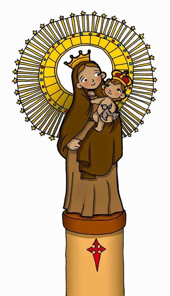 Virgen Del Pilar Imagen Virgen Del Pilar Virgen Maria Para Niños Imágenes De La Virgen