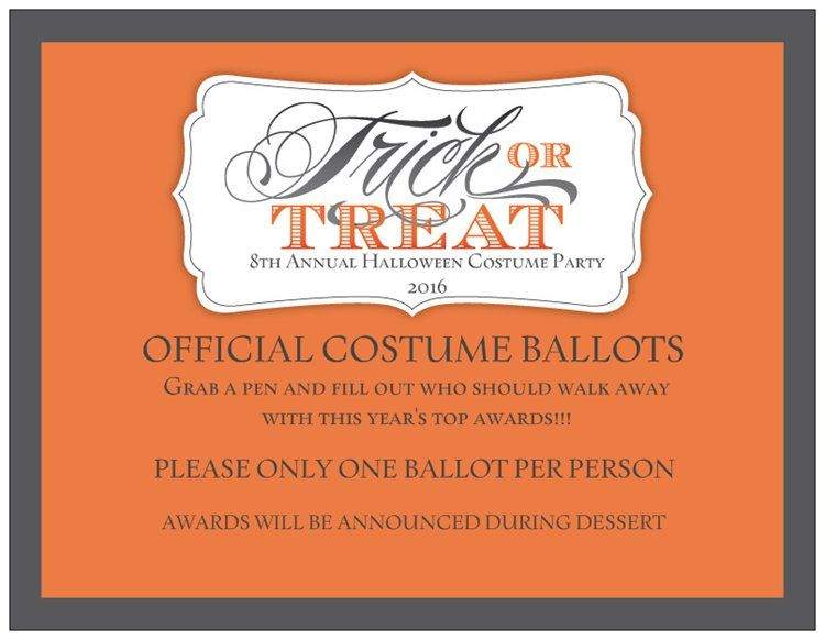 halloween parties official costume ballot rules - Halloween Party Rules
