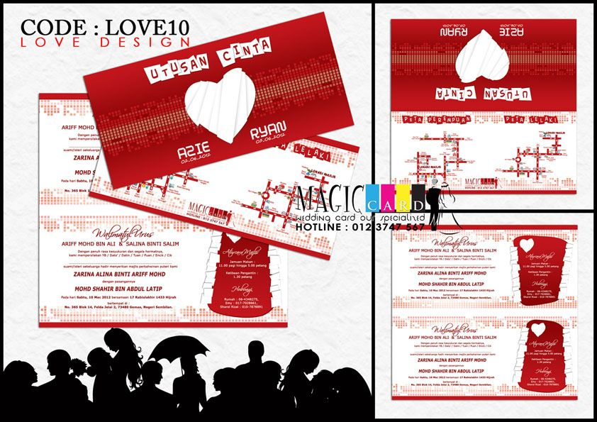Rekaan Kad Kahwin Dalam Koleksi Love Oleh Magiccard Enterprise Page 1 2 Kad Kahwin Love Enterprise