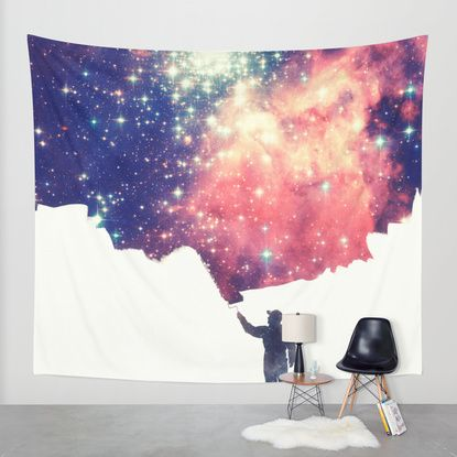 Painting the universe Wall Tapestry by Badbugs_art   Society6