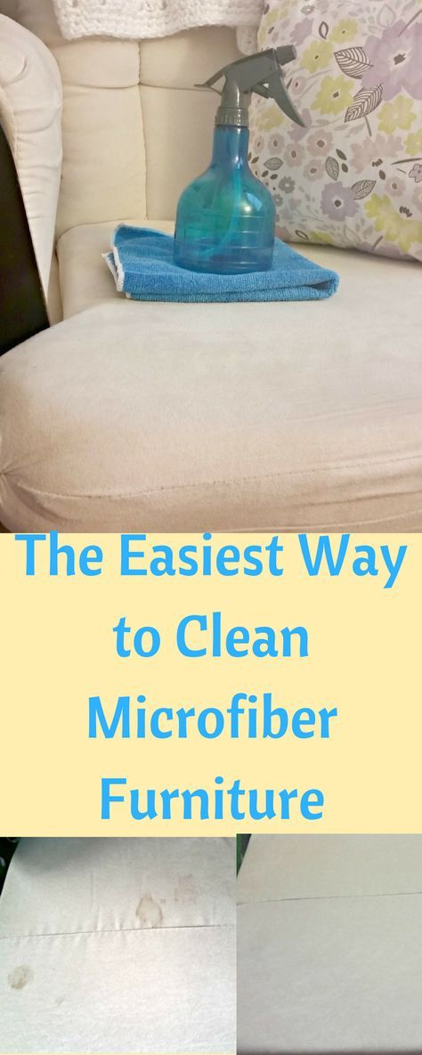 Microfiber furniture can get filthy. Use this method to clean microfiber the easy and cheap way.