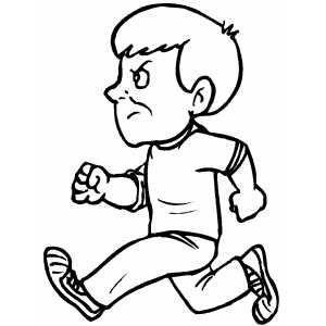 Boy Running Coloring Page Coloring Pages Coloring Sheets Boy Coloring