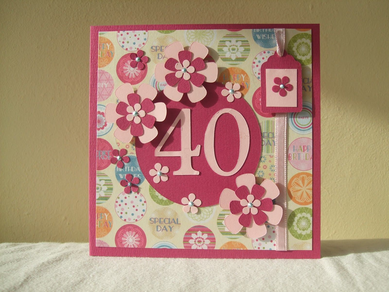 Home made 40 th birthday card really like this one the bright home made 40 th birthday card really like this one the bright colours and bookmarktalkfo Choice Image