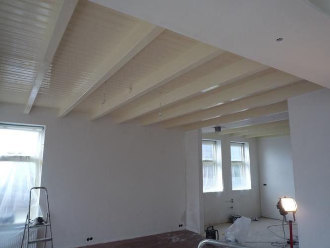 Houten plafond google zoeken plafond pinterest ceiling and house - Houten balkenplafond ...