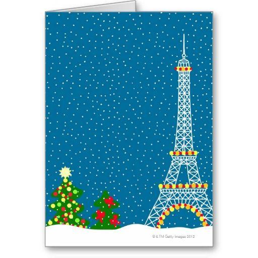The Eiffel tower in the winter Paris Christmas Card #paris ...