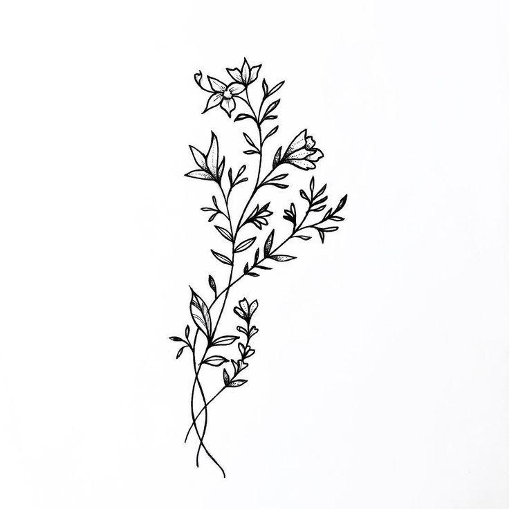 Minimalist Line Flower Tattoo: Insta: @allyjsalinas Pinterest: @ally_salinas YouTube