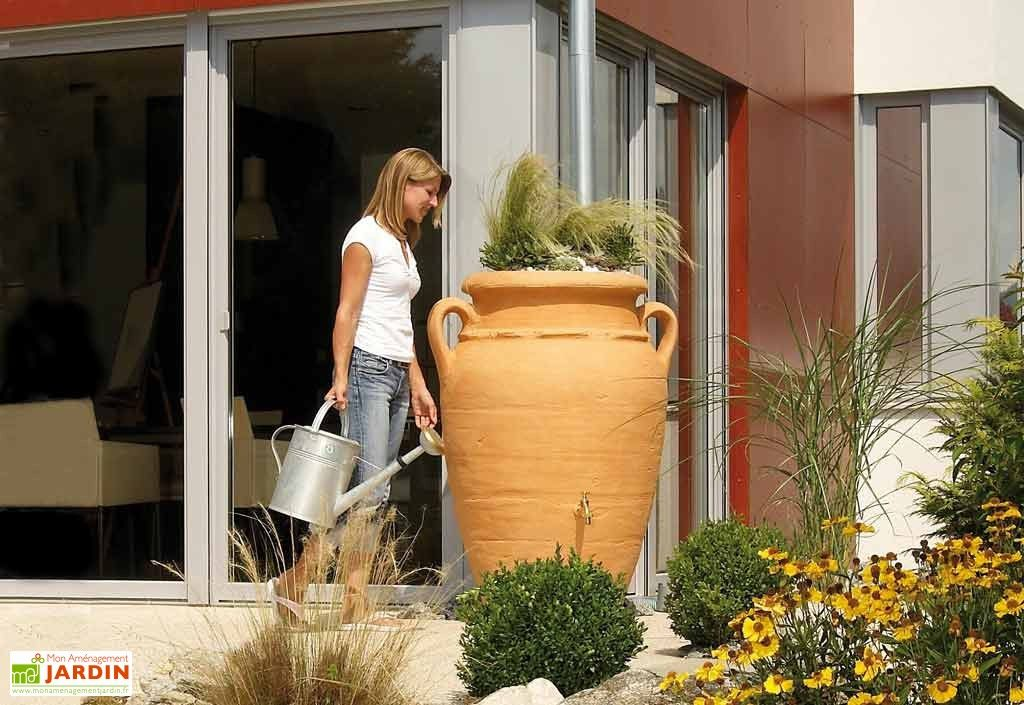 Récupération du0027Eau Pluie Amphore Antik 600 L Sable - recuperation eau de pluie maison