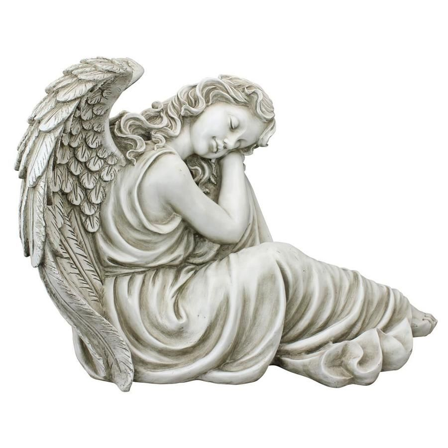 Design Toscano 19 In H X 26 5 In W Off White Angels And Cherubs Garden Statue Lowes Com Angel Statues Statue Antique Stone