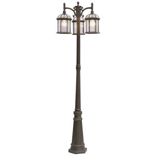 Trans Globe Lighting 4189 Bk 3 Light Pole Lantern Black Trans Globe Lighting Http Www Am Outdoor Post Lights Lamp Post Lights Trans Globe Lighting