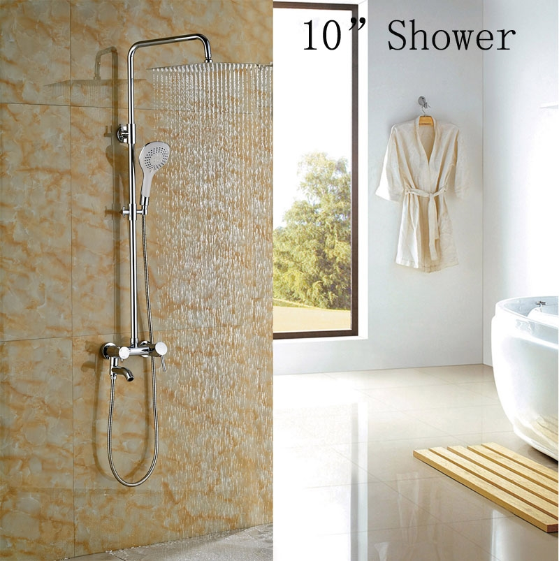 87.32$  Watch now - http://alisrj.worldwells.pw/go.php?t=32585178220 - Contemporary Chrome Polish Tub Faucet Single Lever With Hand Shower Hot&Cold Tap Wall Mounted 87.32$