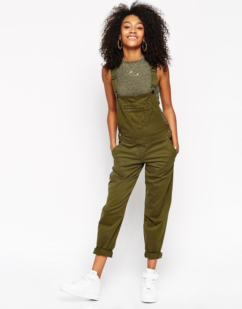 dc9cbb4c014d Olive green overalls. ASOS 90s Style Overalls