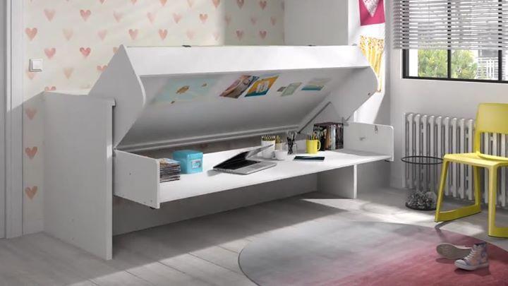 Ce lit se transforme en bureau pratique non delamaison