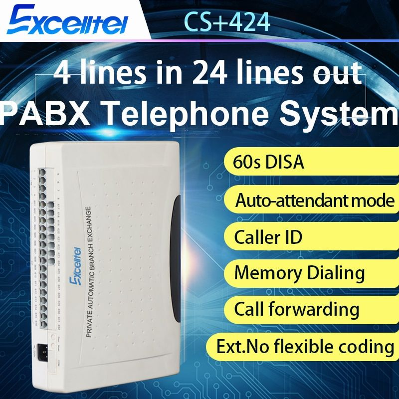 EXCELLTEL Corporate Office Telephone System PABX CS+424 24
