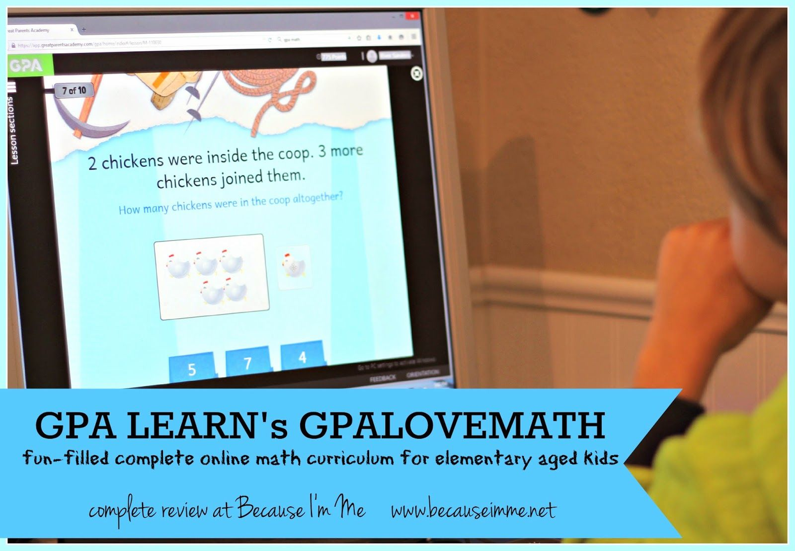 Because I\'m Me review of GPA LEARN GPALOVEMATH, online math program ...