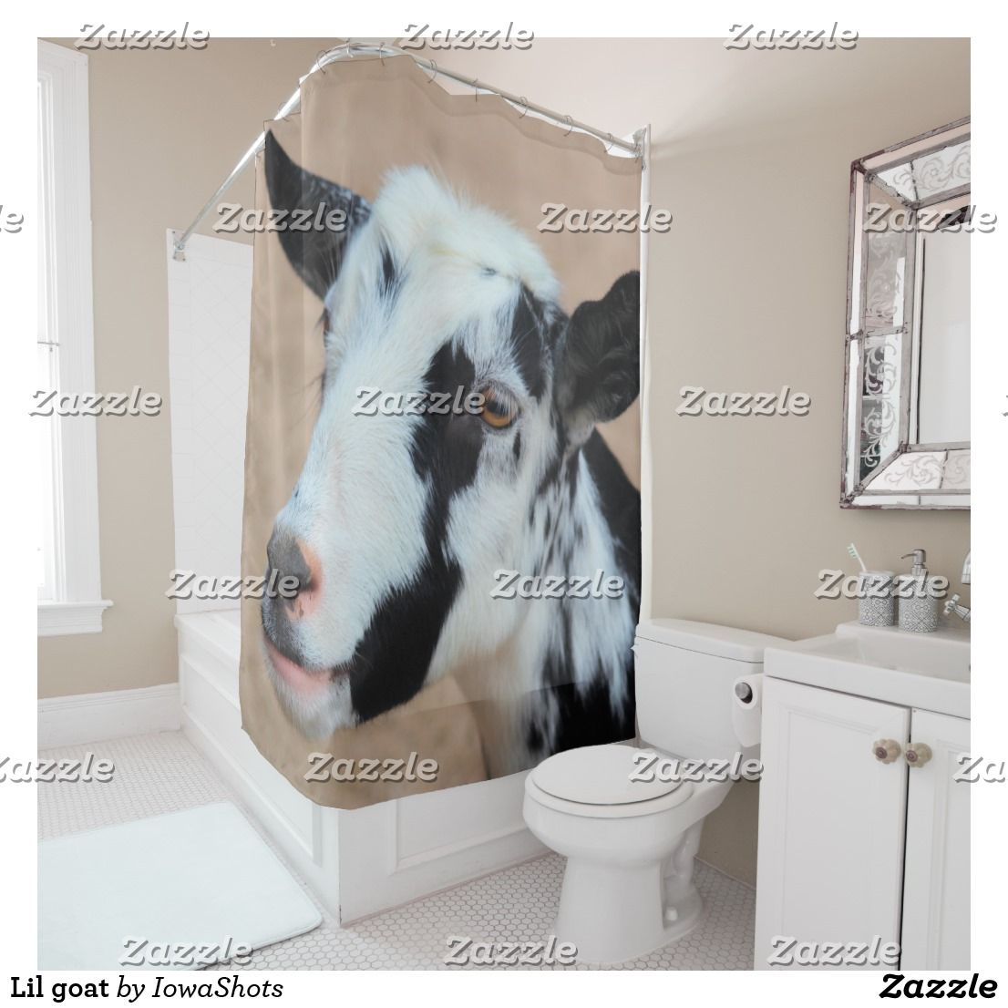 Lil Goat Shower Curtain