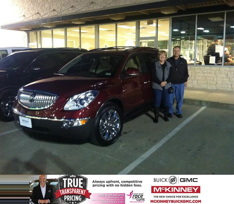 Congratulations To Tom Minnella On Your Buick Enclave Purchase