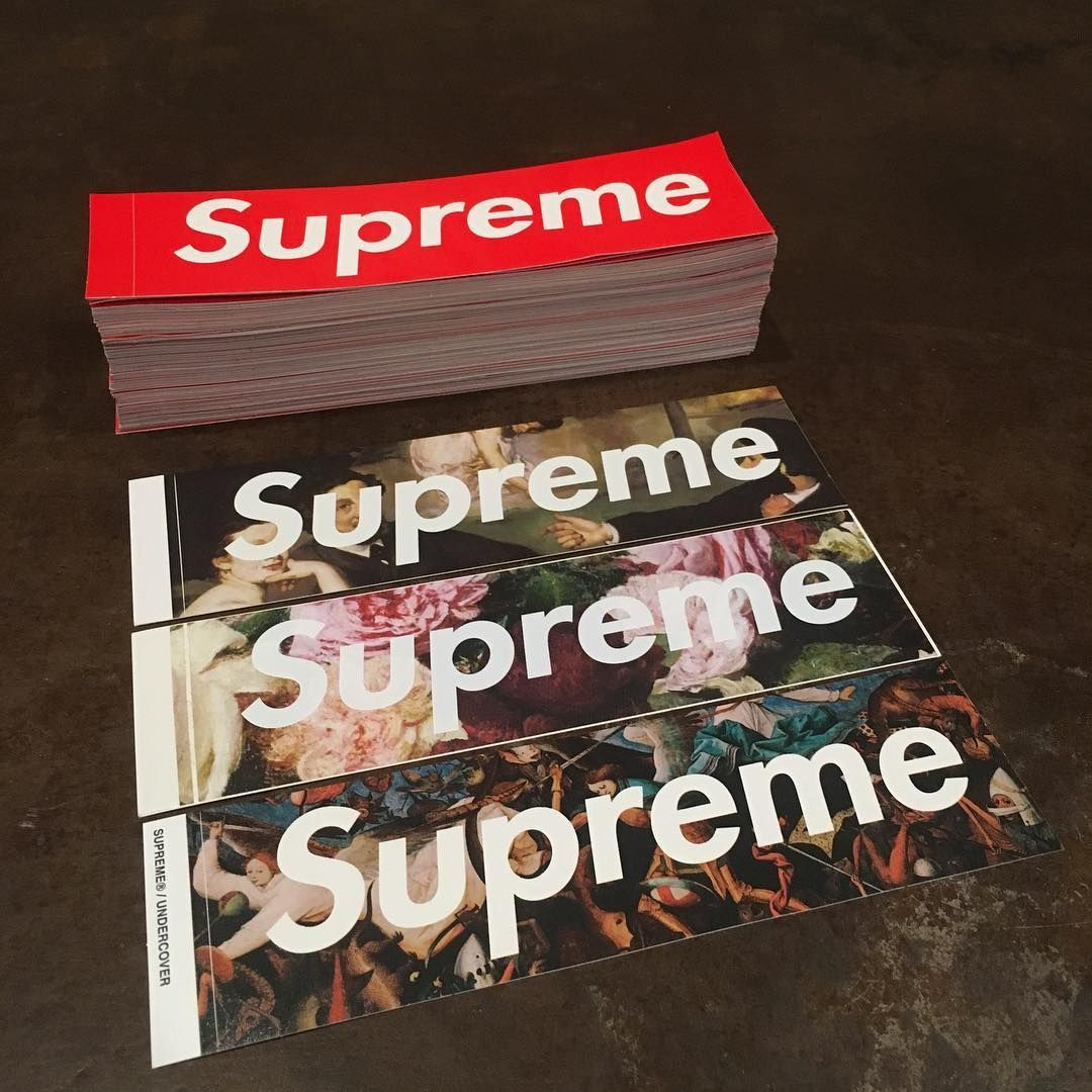 Supreme box stickers supreme sticker hypebeast wallpaper supreme wallpaper bape dope art