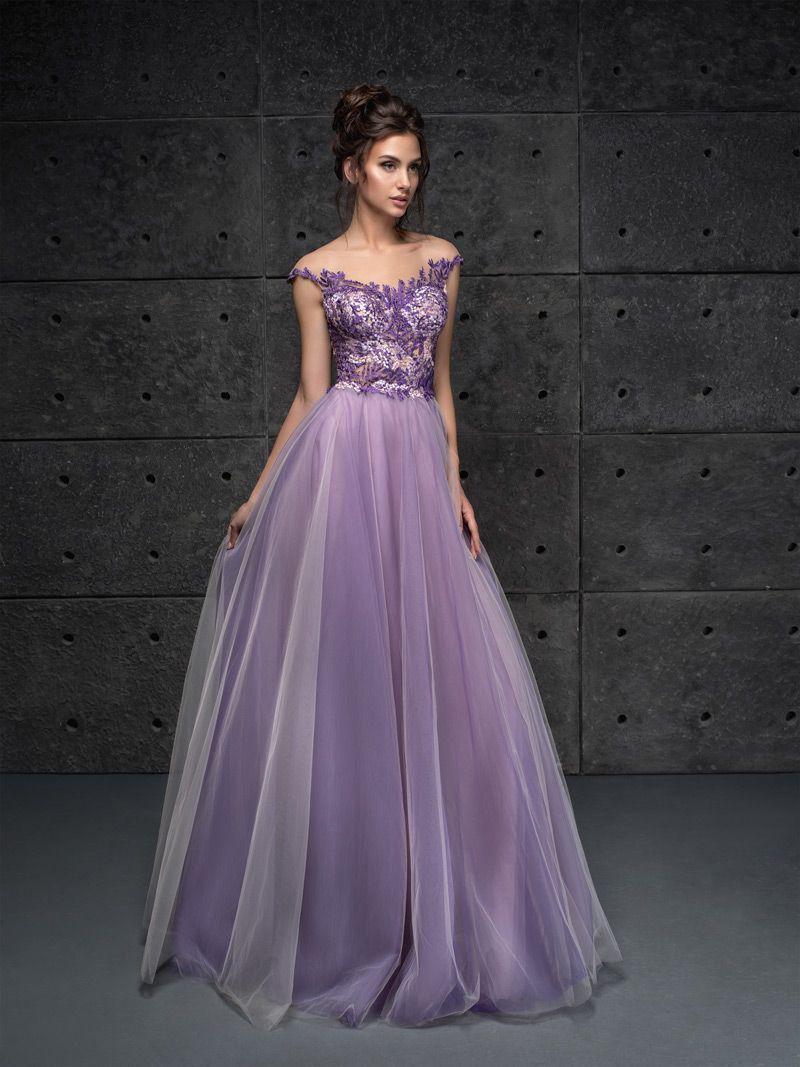 76a68ce0bf10 Fialové šaty na stužkovú