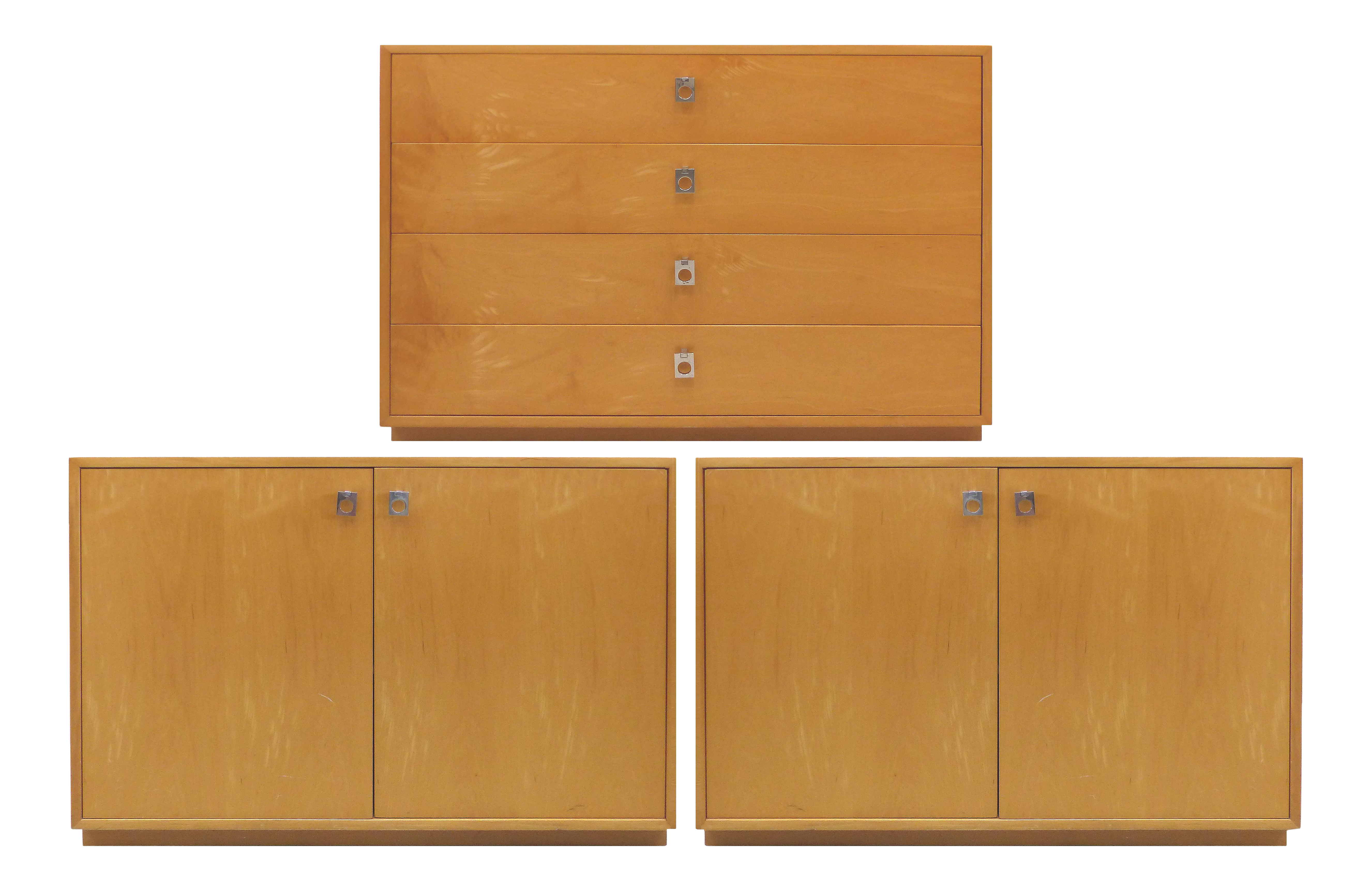 Mid Century Maple Dresser And Cabinets By Jack Cartwright For Founders  Furniture