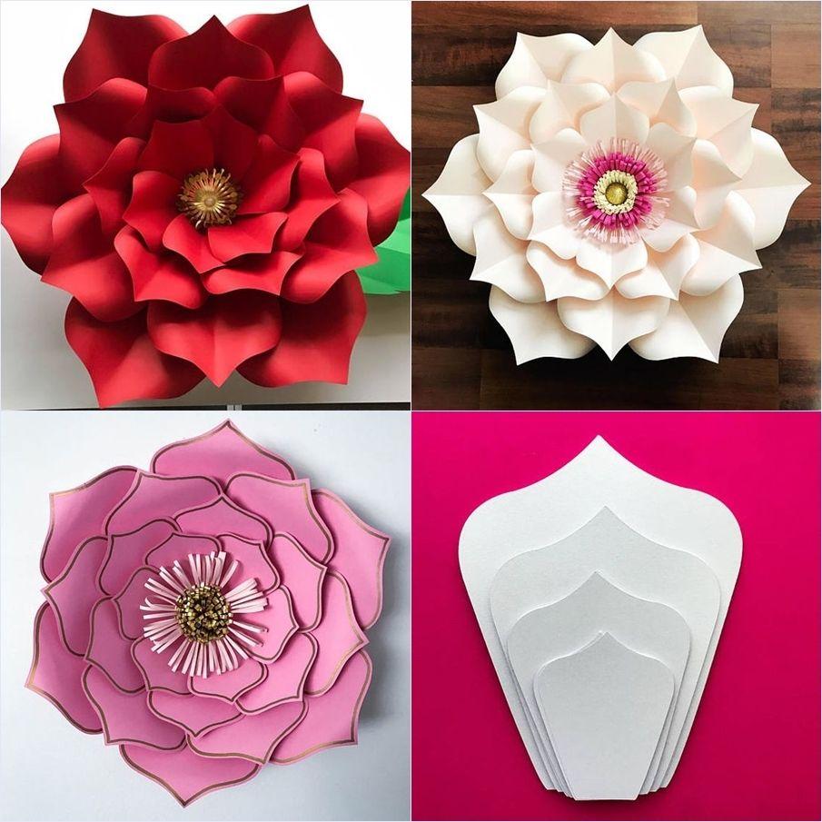 Diy Molde De Flor De Papel Gigante Flores Artesanales