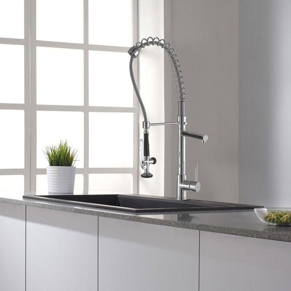 Kraus Commercial Pre-rinse Chrome Kitchen Faucet - 11345091 ...