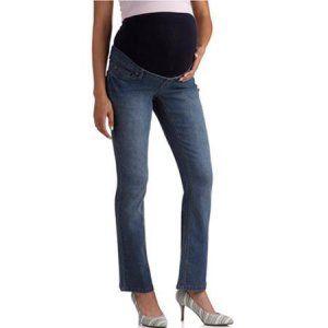 373fd74b7fe2a Maternity Mix 'n Match Full Panel Jeans, 2-Pack Value Bundle - Walmart.com  20.00