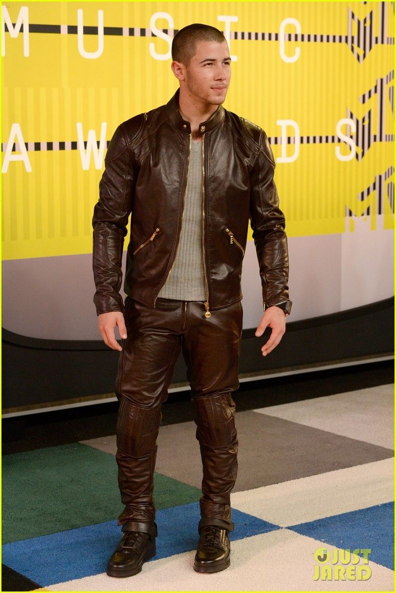 54022339ae4 guys in leather pants. — Nick Jonas