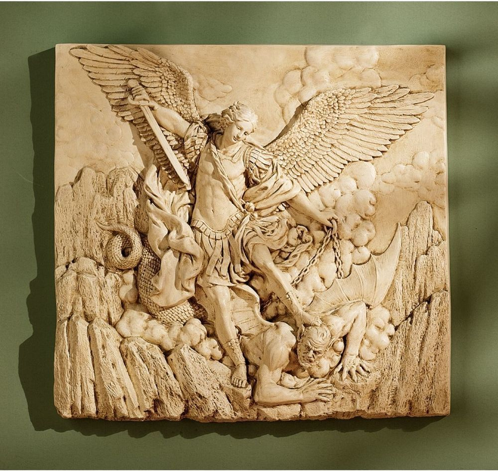 St. Michael Arch Angel Wall Sculpture Spiritual Archangel Frieze ...