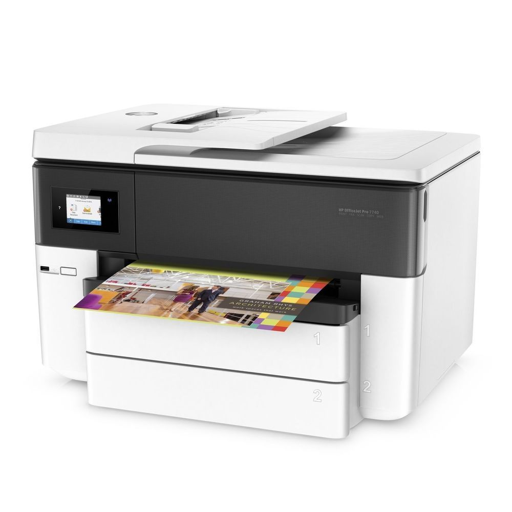 New Hp Officejet Pro 7740 Multi Function Color Printer Wireless Print Copy Scan Hp Officejet Hp Officejet Pro Printer