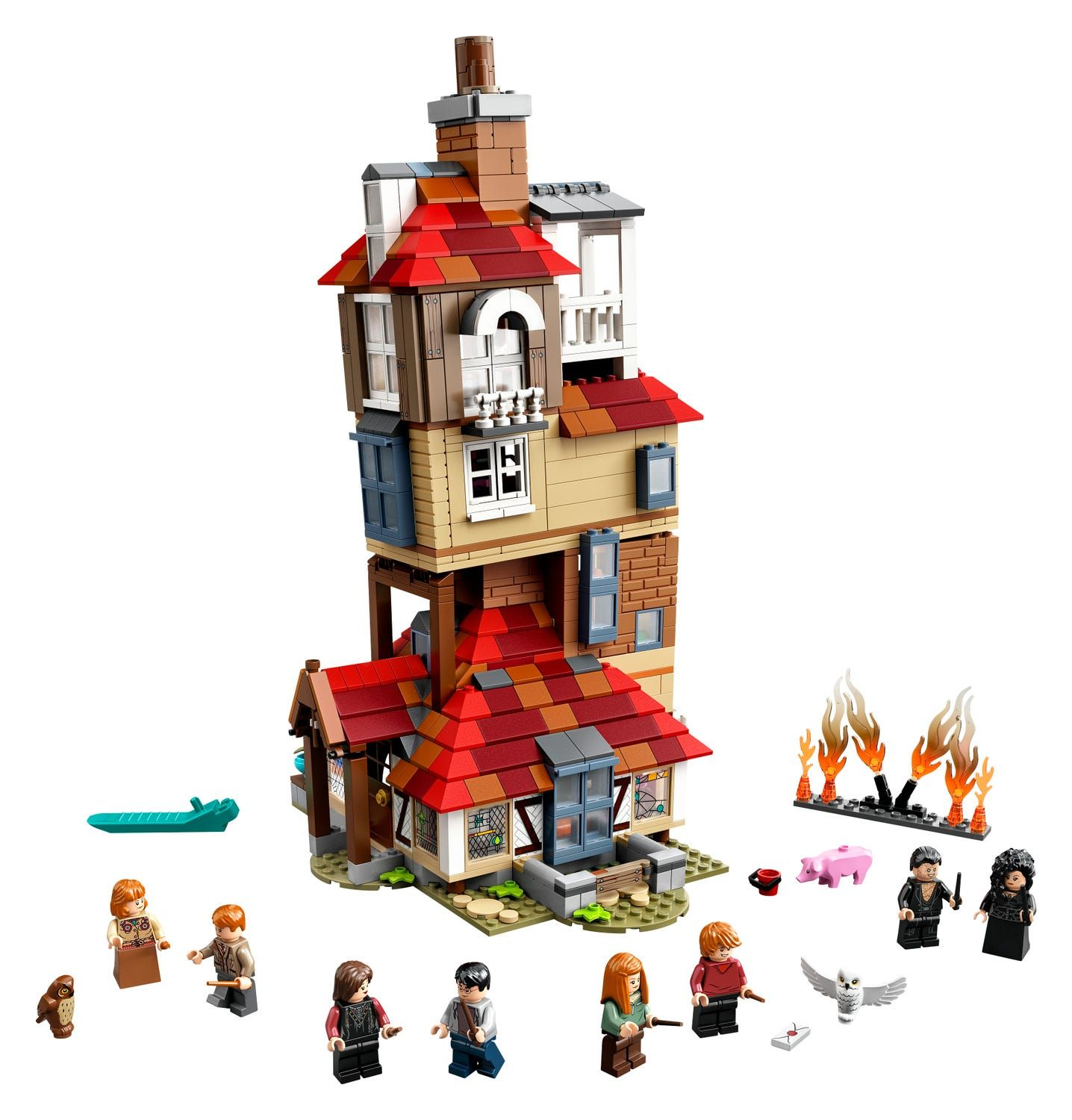Attack On The Burrow 75980 Harry Potter Buy Online At The Official Lego Shop Us Harry Potter Lego Sets Lego Harry Potter Harry Potter Set