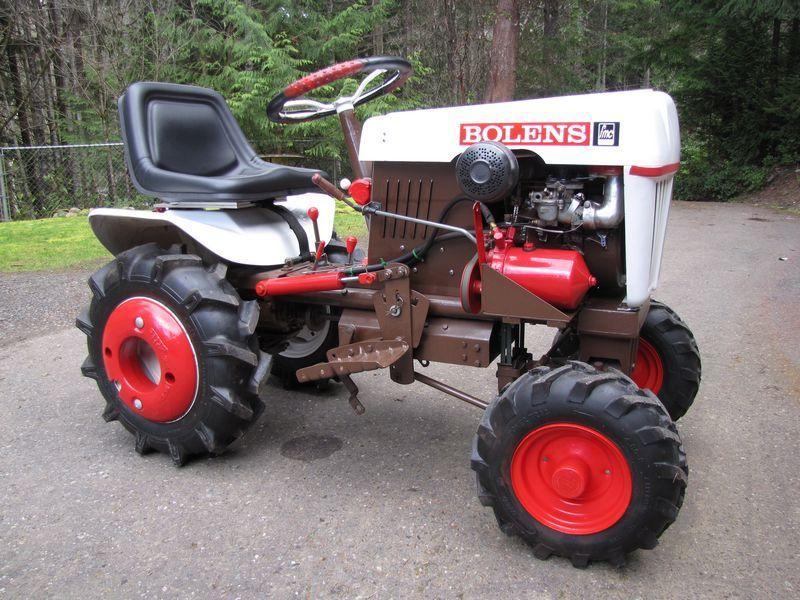 Bolens 2 Wheel Tractor : My recently reborn bolens mytractorforum