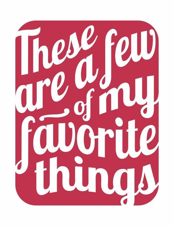 my favourite things lyrics pdf