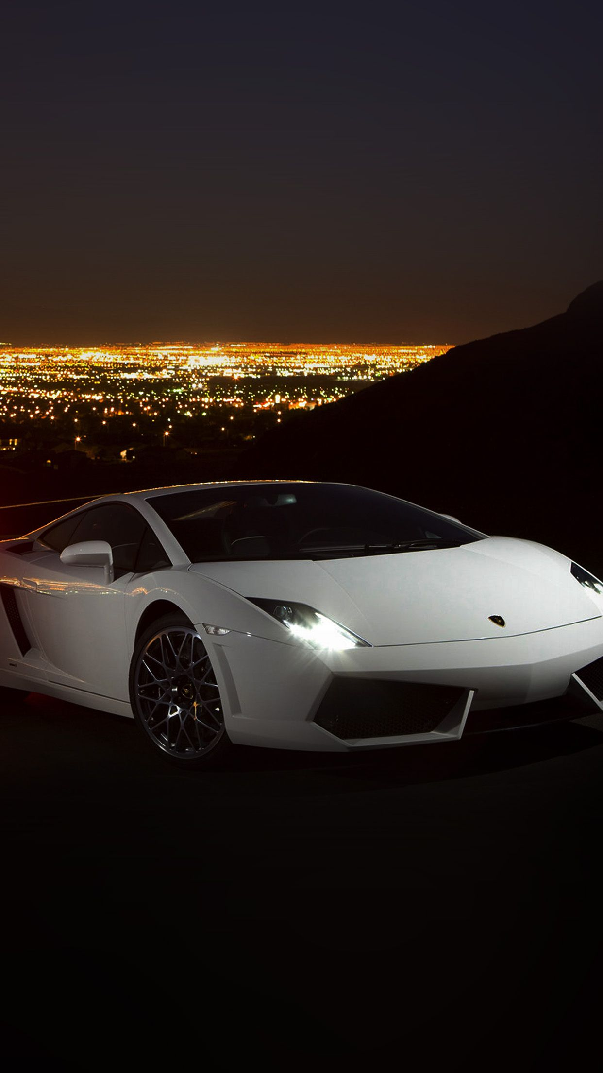 Nice Car Lamborghini Art Dark Night Drive Iphone6 Plus Wallpaper