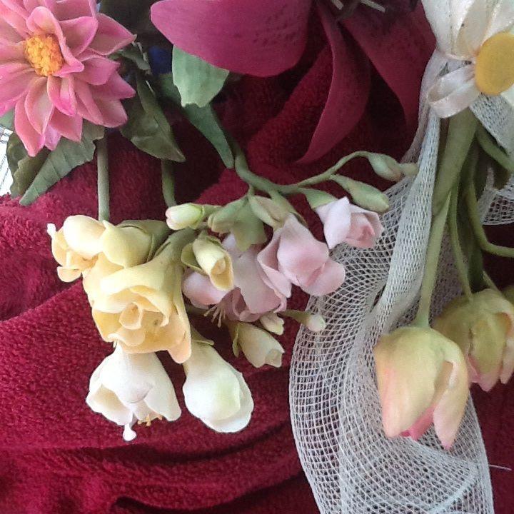 Fresie tulipani e dalia