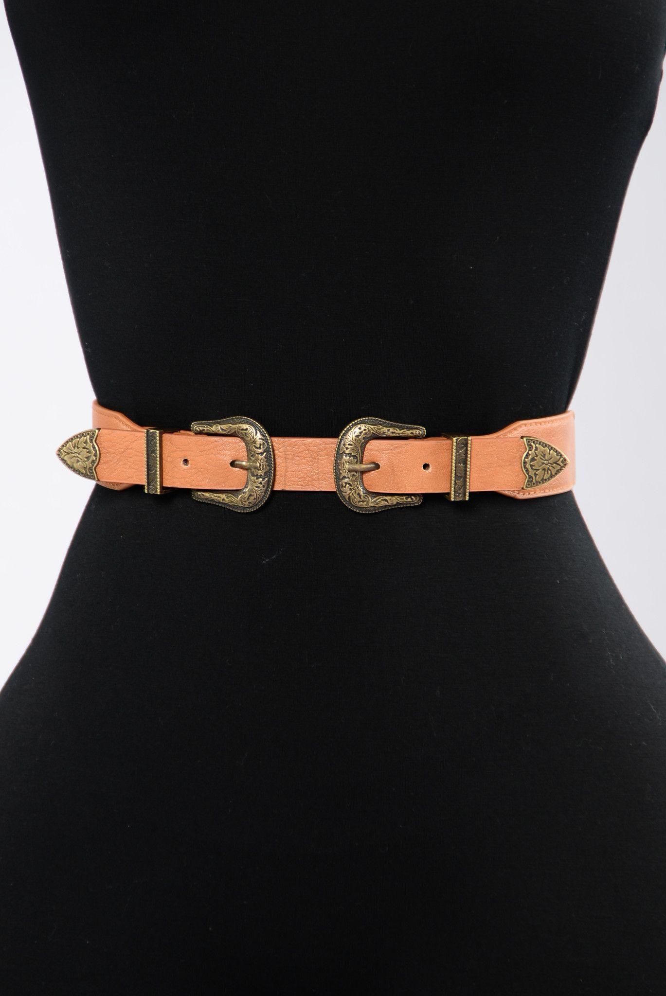 Natural Women Belt - Antique Gold/Tan