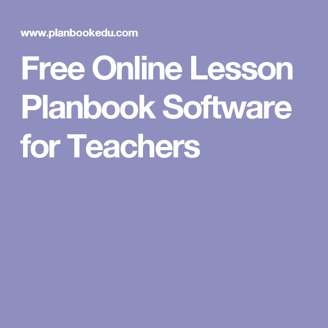 free online lesson planbook software for teachers sped materials