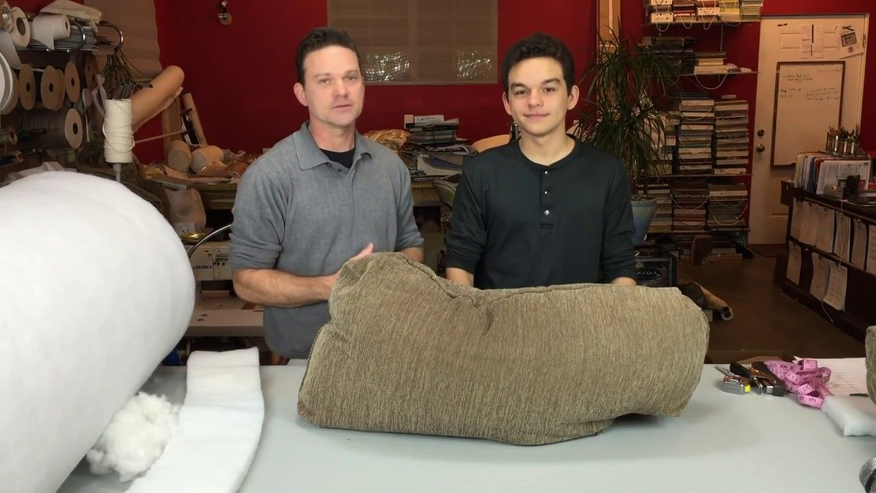 Diy how to fix flat back cushions for sofas or chairs