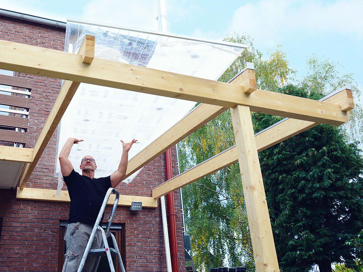 Vordach Aus Holz Und Glas Selber Bauen In 2020 Mit