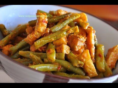 Sambal Goreng Tahu Tempe Bean Curd And Long Beans