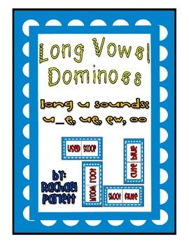 Long Vowel Dominoes: Long U (ue, u_e, oo, ew) | Phonics