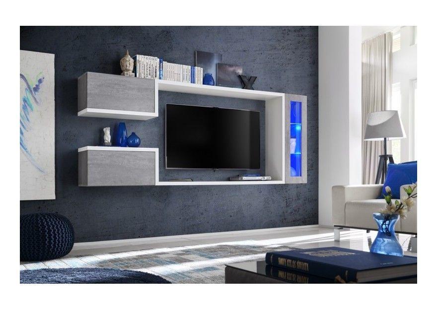 Meuble Tv Suspendu Meuble De Salon Complet Saturne Composition